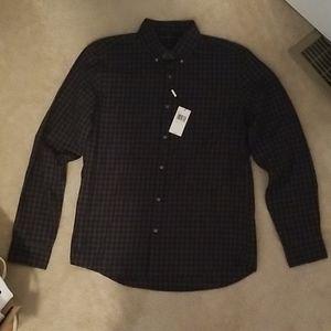 Michael Kors Fulton Check Print Slim Fit Shirt
